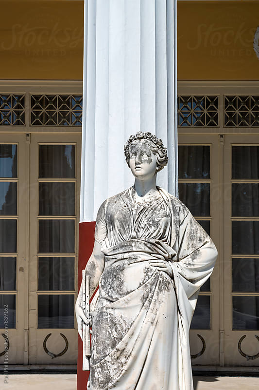 Sculpture outside the Achilleion in Corfu. Once home to the Empress of Austria. by Paul Phillips for Stocksy United