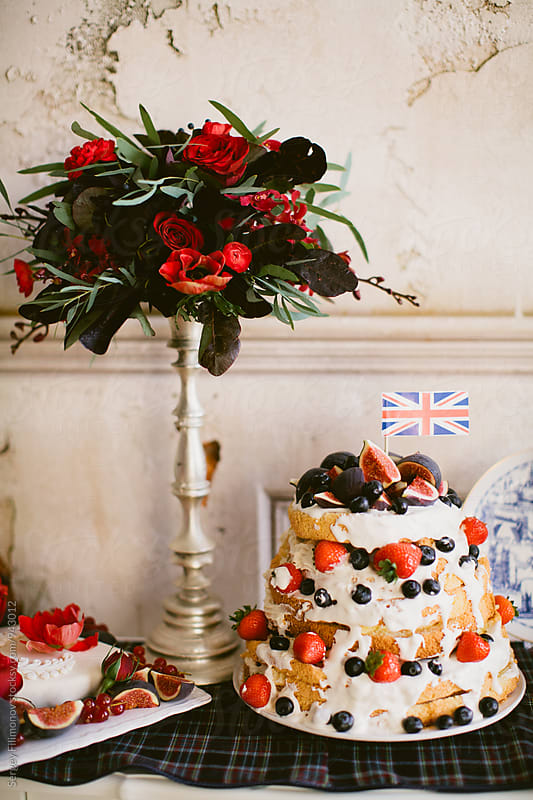 Sweet cake on birthday by Sergey Filimonov for Stocksy United