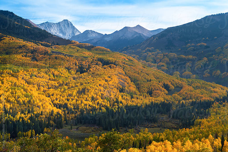 Capitol Peak Fall by Casey McCallister for Stocksy United