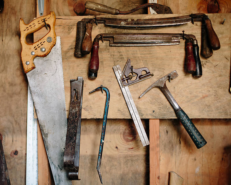 hand tools for woodworking by Brian Powell for Stocksy United