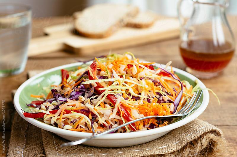 Rainbow Farro Salad by Harald Walker for Stocksy United