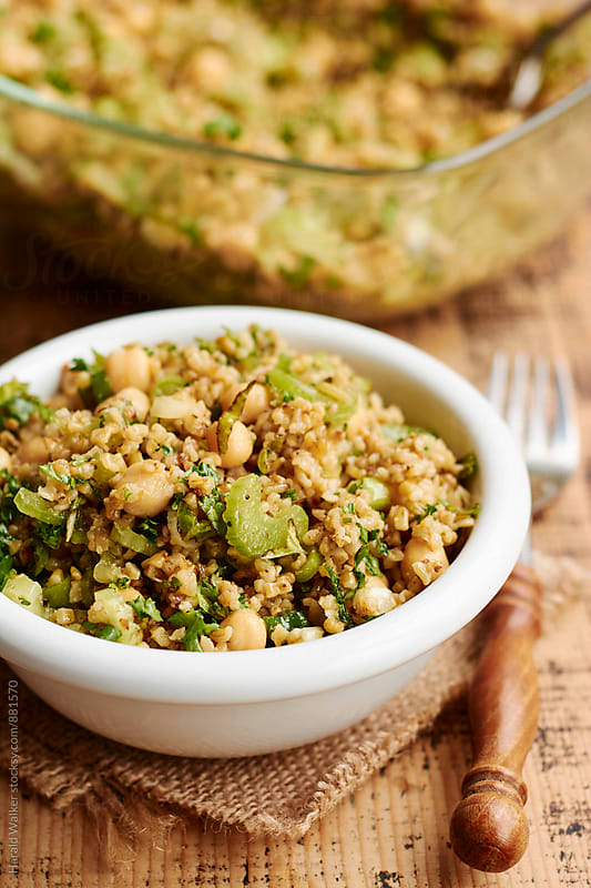 Freekeh, Chickpea and Herb Salad by Harald Walker for Stocksy United