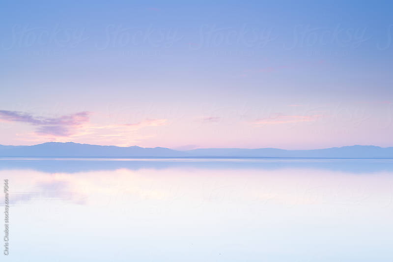 Sunset over the Salton Sea by Chris Chabot for Stocksy United