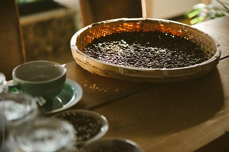Raw coffee bean by Maa Hoo for Stocksy United