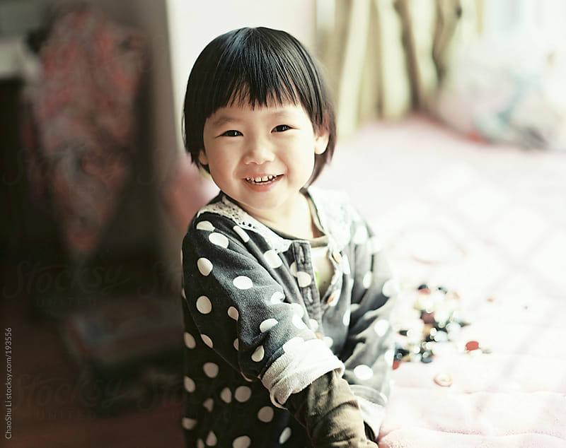 Asian little girl, by 120 film by ChaoShu Li for Stocksy United