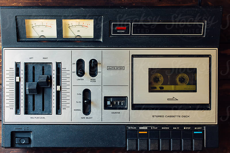 Old cassette player by Gabriel (Gabi) Bucataru for Stocksy United
