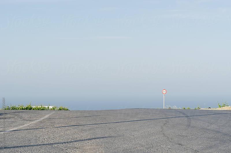 Road in Santorini by Maa Hoo for Stocksy United