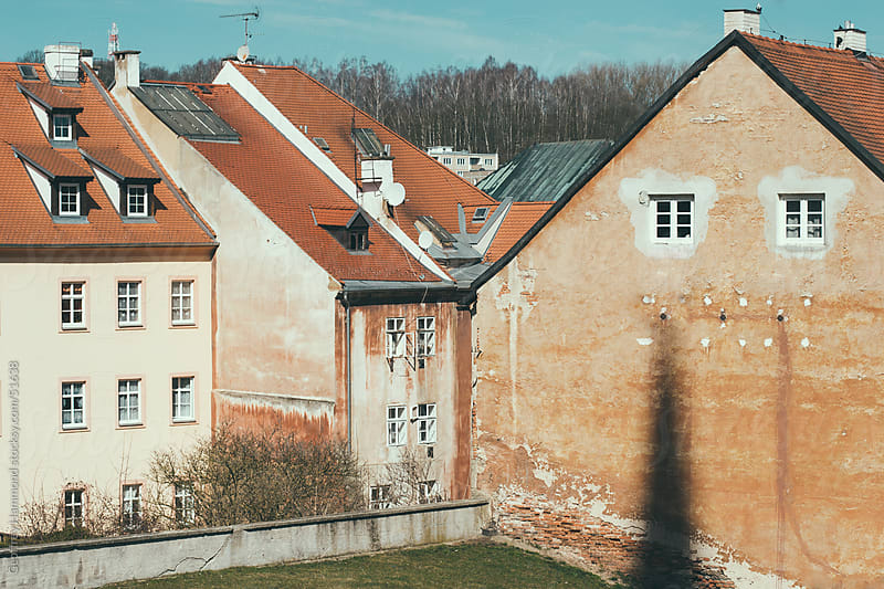 Close up of Old Apartment Buildings in Cheb, Czech Republic by Geoffrey Hammond for Stocksy United