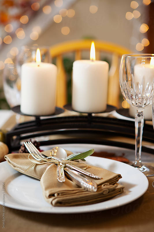 Thanksgiving: Pretty Holiday Place Setting by Sean Locke for Stocksy United