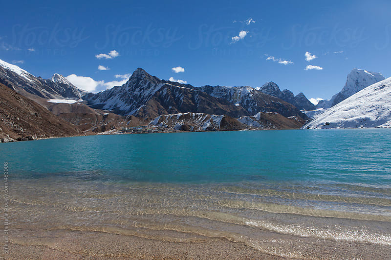 Gokyo Lake, 4800m, Sagarmatha National Park, Everest Region, Nepal. by Shikhar Bhattarai for Stocksy United