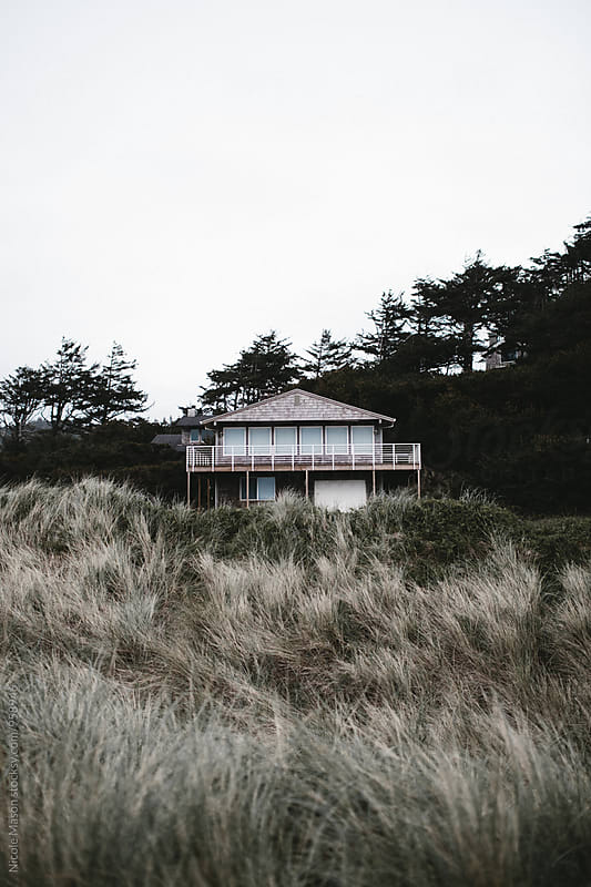 house on the coast in oregon by Nicole Mason for Stocksy United