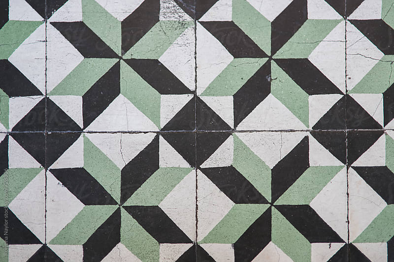 Antique floor tiles at a monastery by Rowena Naylor for Stocksy United