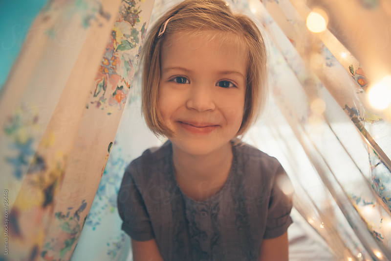 Cute Smiling Girl by Lumina for Stocksy United
