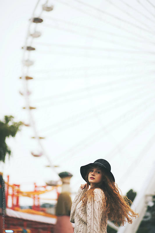 Young woman at the carnival by Jovana Rikalo for Stocksy United