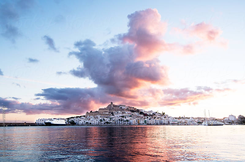Views of Ibiza from the port by Bisual Studio for Stocksy United