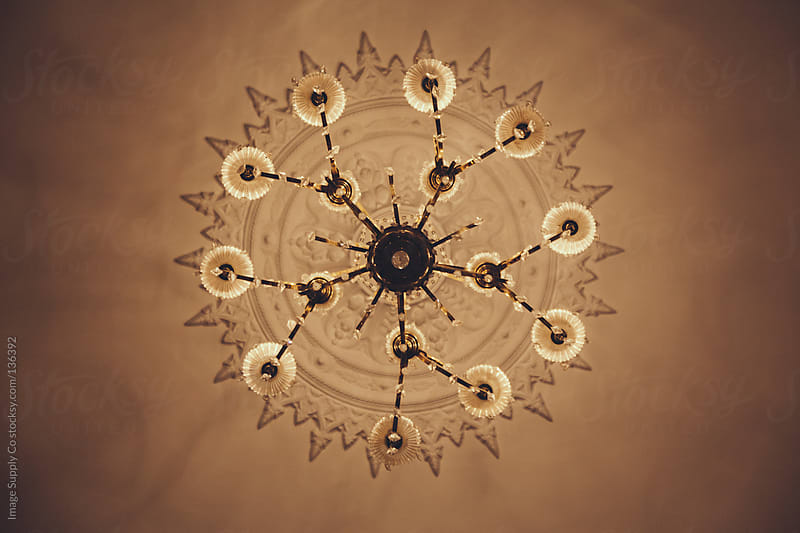 beautiful chandelier from below by Image Supply Co for Stocksy United