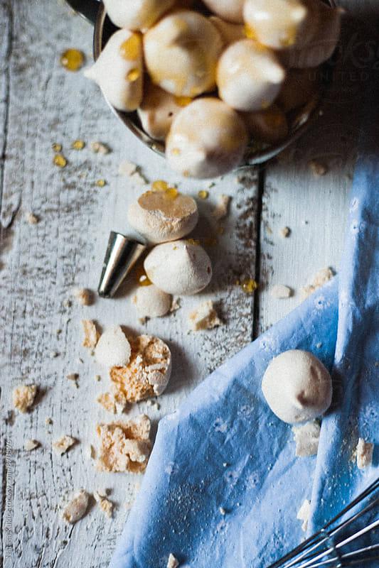 Very grainy meringues with honey still life by Natasa Kukic for Stocksy United