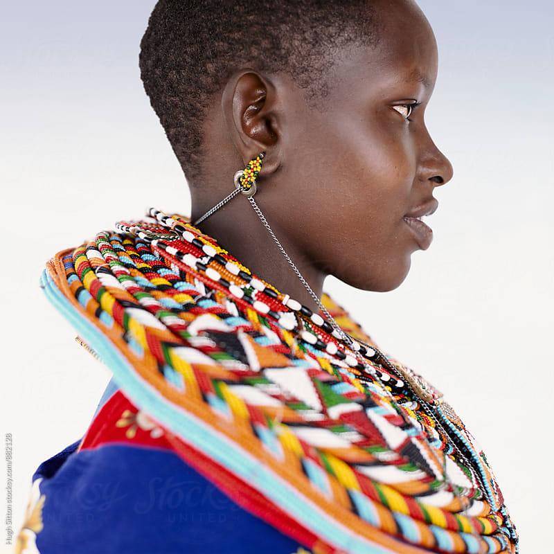 Portrait of Samburu tribeswoman. Kenya. by Hugh Sitton for Stocksy United
