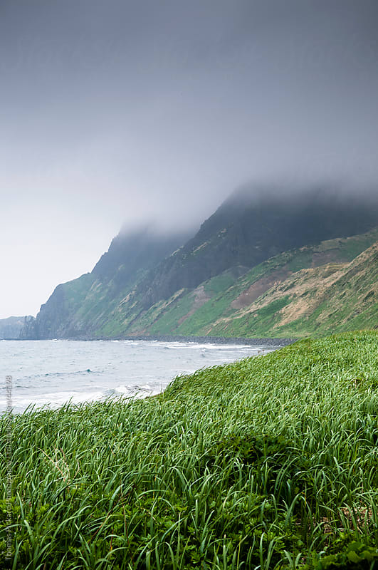 View along the coast of Rebun-to Island, Hokkaido, Japan by Thomas Pickard for Stocksy United