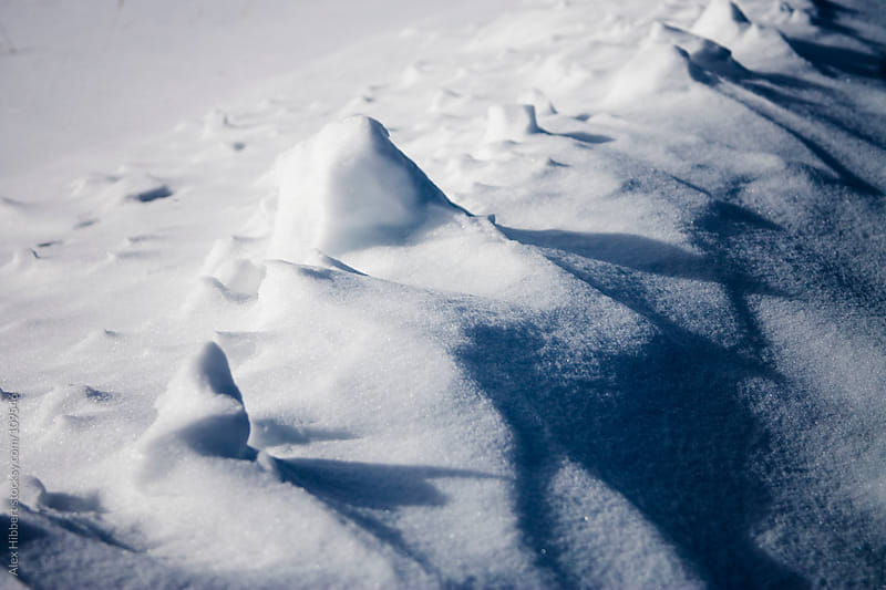 Ice and snow formations by Alex Hibbert for Stocksy United