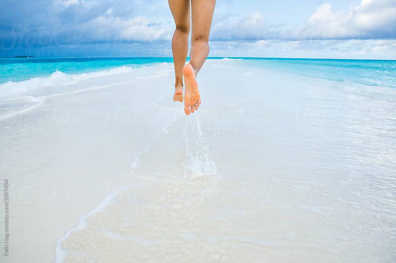 Woman on Sandbank