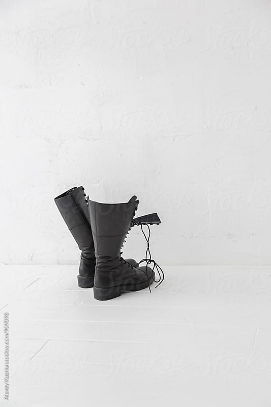 black leather boots by Vesna for Stocksy United
