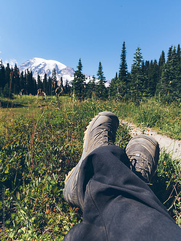 relax at MT Rainier by unite  images for Stocksy United