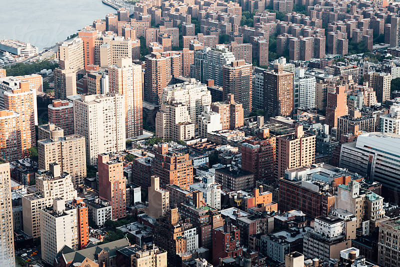 Manhattan from above by Sam Burton for Stocksy United