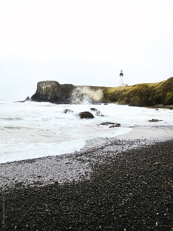 Beautiful White Lighthouse in Oregon by B. Harvey for Stocksy United