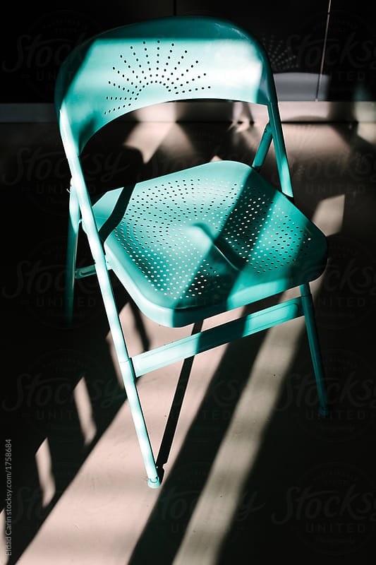 Incroyable Turquoise Metal Chair By Eldad Carin For Stocksy United