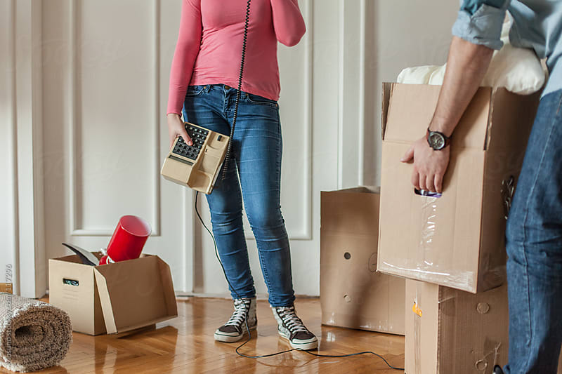 Anonymous Couple Moving Into Their New Home by Mosuno for Stocksy United