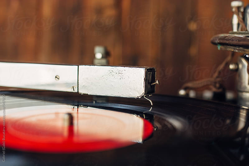 Needle on a vinyl record player by Gabriel (Gabi) Bucataru for Stocksy United