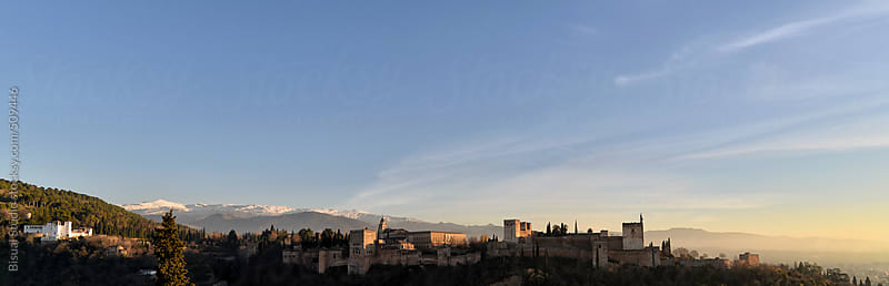 Views of Alhambra and Sierra Nevada in Granada by Bisual Studio for Stocksy United