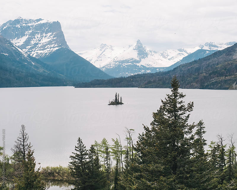 St Mary Lake by Michael Overbeck for Stocksy United