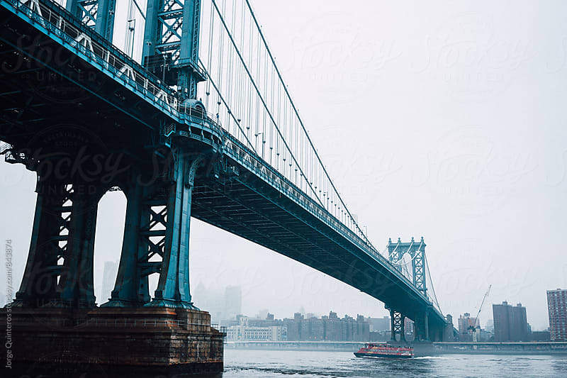 Williamsburg Bridge by Jorge Quinteros for Stocksy United