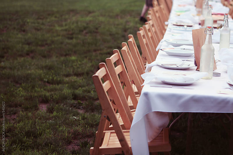Table and Chairs Set For Dinner by ALICIA BOCK for Stocksy United