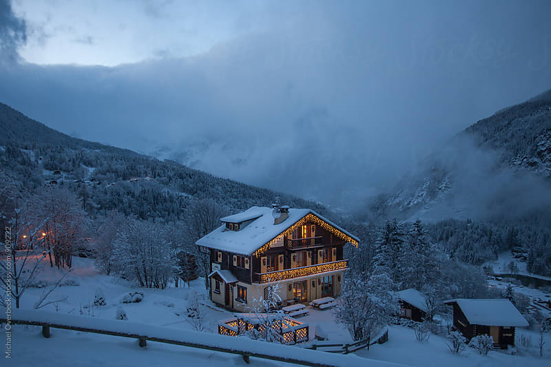 Nightfall in Chamonix by Michael Overbeck for Stocksy United