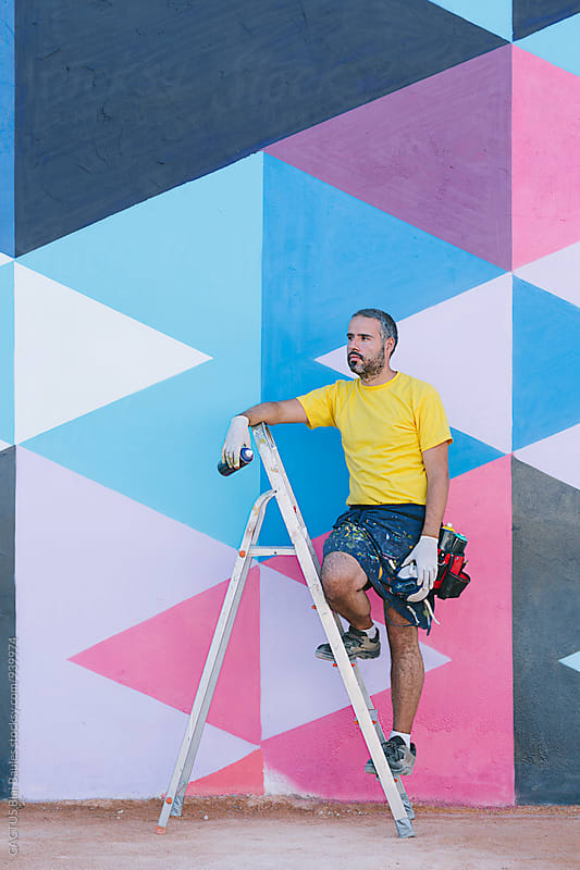 Graffiti painter by Blai Baules for Stocksy United