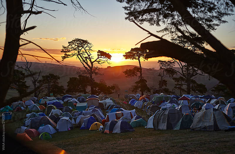 Festival Campsite by WAA for Stocksy United