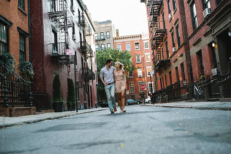 Affectionate young couple in NY by WAVE for Stocksy United