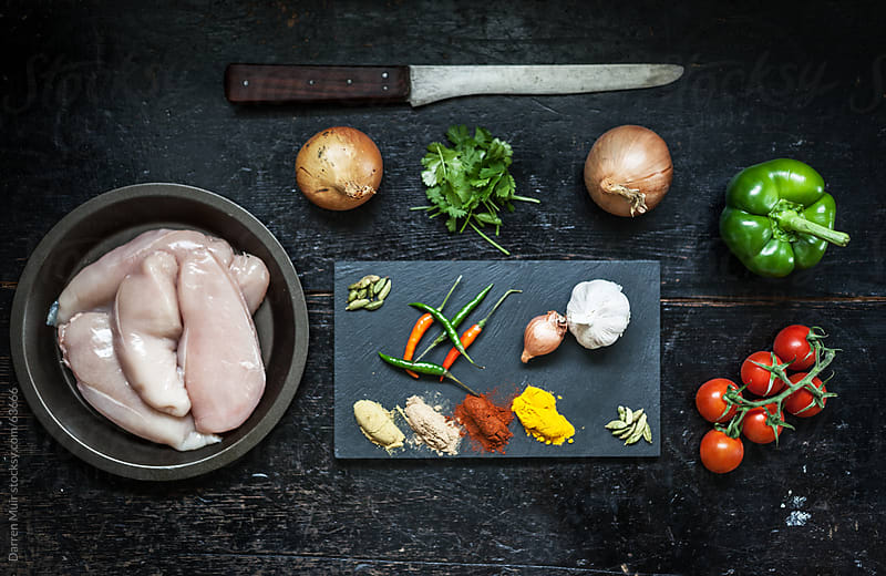 Chicken Curry Ingredients. by Darren Muir for Stocksy United