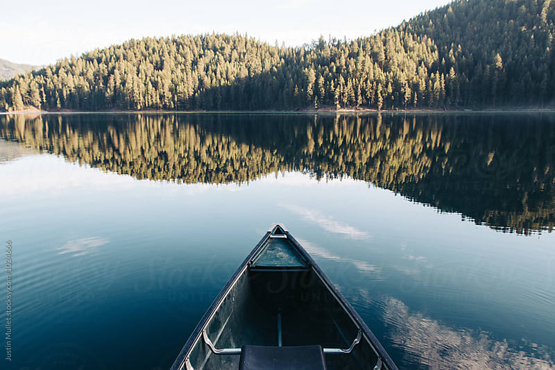 Canoe Ride on an Early Morning by Justin Mullet for Stocksy United
