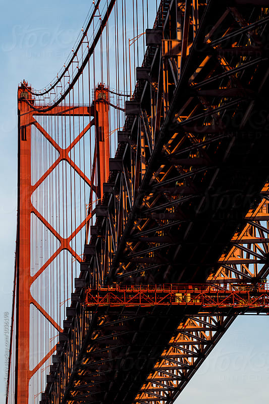 The Ponte 25 de Abril Bridge by James Tarry for Stocksy United