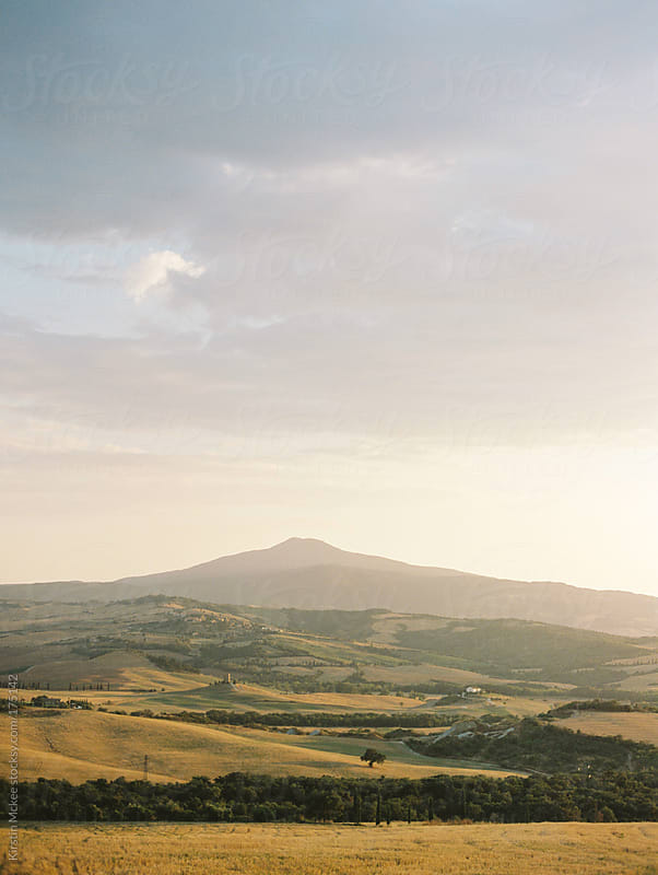Mount Amiata, Val d'Orcia by Kirstin Mckee for Stocksy United