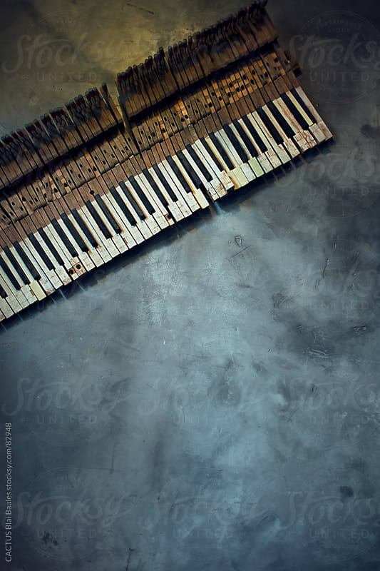 Old piano keyboard  by CACTUS Blai Baules for Stocksy United