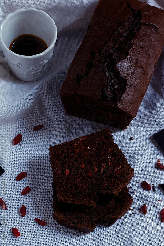 Dense chocolate cake by Federica Di Marcello for Stocksy United