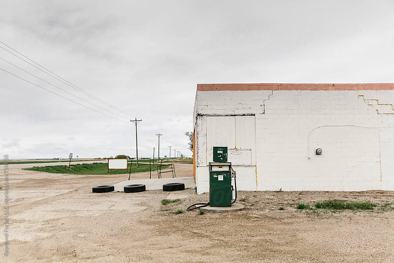 Gas Station Rural South Dakota by Raymond Forbes LLC for Stocksy United