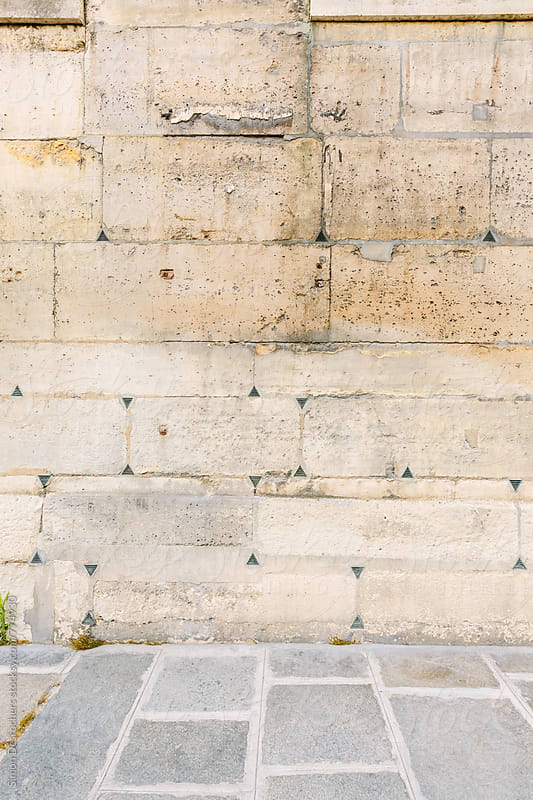 Very old Paris stone wall by Simonfocus for Stocksy United