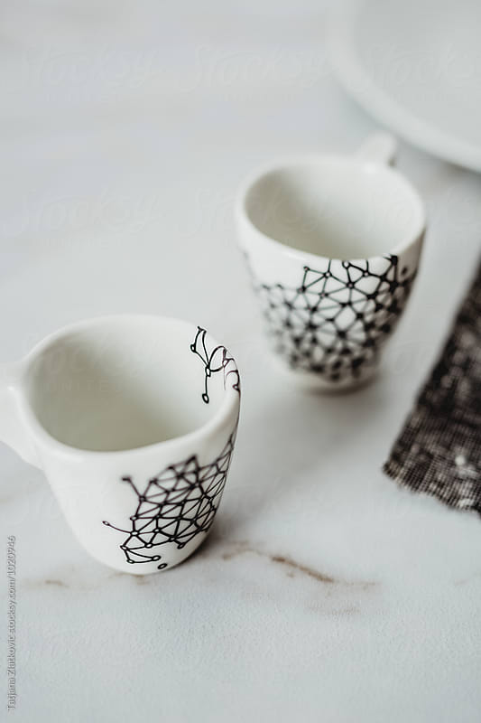 Artistic cups by Tatjana Zlatkovic for Stocksy United