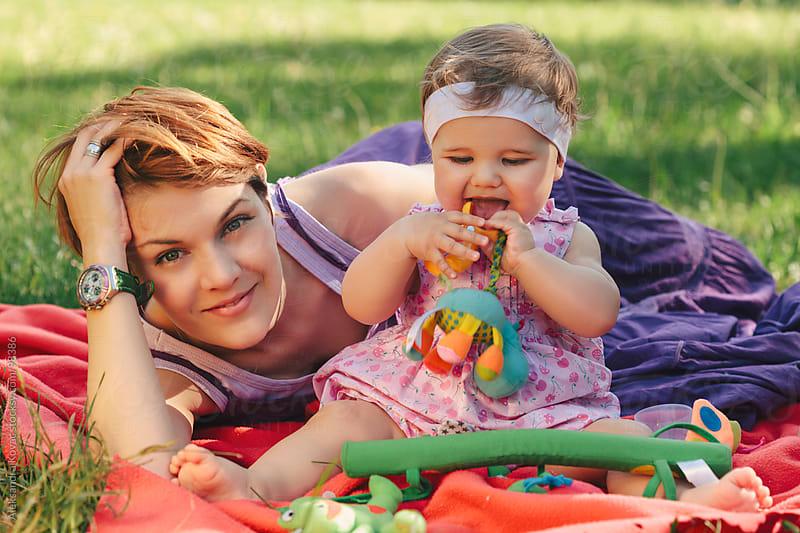 Mother and baby girl by Aleksandra Kovac for Stocksy United